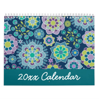 Chic Girly Patterns - You can change the date Calendar