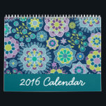 """Chic Girly Patterns - You can CHANGE THE DATE Calendar<br><div class=""""desc"""">A fun and colorful calendar with chevrons,  flowers and more! A bright and colorful to mark off the year.</div>"""