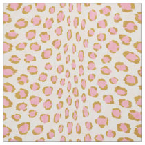 Chic girly pink and gold cheetah print pattern fabric