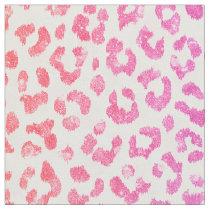 Chic girly pink glitter cheetah print pattern fabric