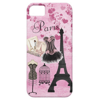 Chic Girly Pink Paris Fashion iPhone 5 Case