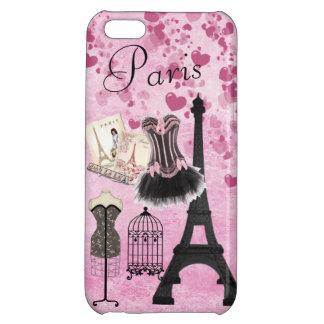 Chic Girly Pink Paris Fashion iPhone 5C Case
