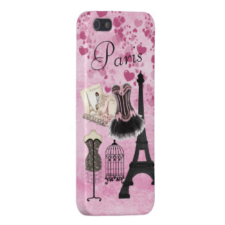 Chic Girly Pink Paris Fashion Case For iPhone 5