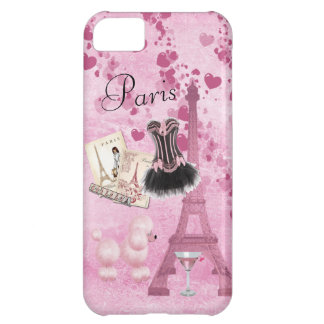 Chic Girly Pink Paris Vintage Romance Case For iPhone 5C