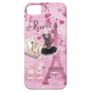 Chic Girly Pink Paris Vintage Romance iPhone SE/5/5s Case