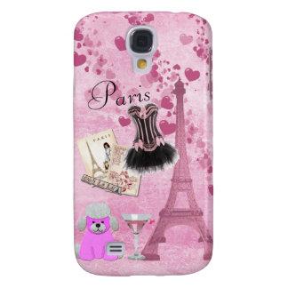 Chic Girly Pink Paris Vintage Romance Samsung Galaxy S4 Case