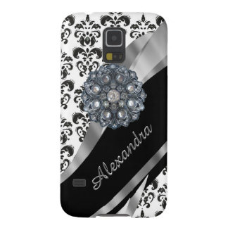 Chic girly vintage damask personalized case for galaxy s5