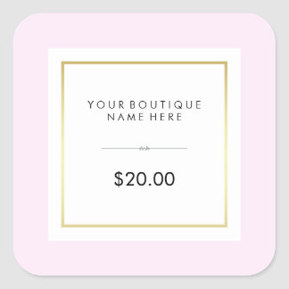 Chic Glam Pink and Gold Retail Price Tag