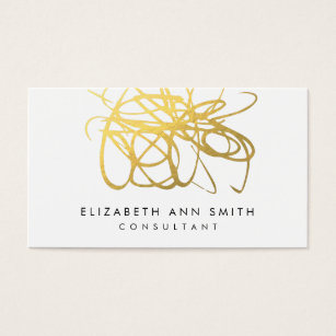 Z u m b a business cards templates zazzle chic gold abstract brushstrokes business card pack reheart Choice Image