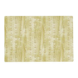 Chic Gold Anchors Placemat