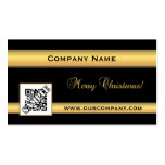 Chic Gold and Black Christmas Business Card