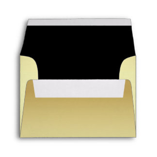Chic Gold and Black Custom Wedding RSVP Envelope