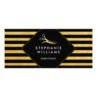 Chic Gold and Black Hair Salon Gift Certificate