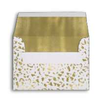 Chic Gold and White Animal Print Envelope
