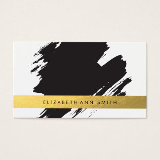 Z u m b a business cards templates zazzle chic gold black brushstrokes business card reheart Gallery