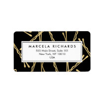 Chic Gold Bobby Pins Hair Stylist Salon Black Label