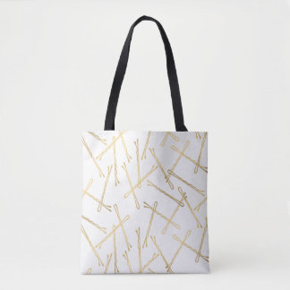 Chic Gold Bobby Pins White Tote Bag