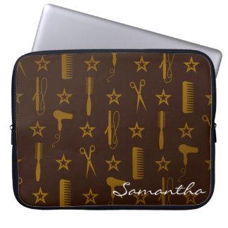 Chic Gold & Coco Brown Custom Fuji Case Cover Bag