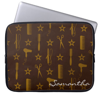Chic Gold & Coco Brown Custom Fuji Case Cover Bag Computer Sleeve