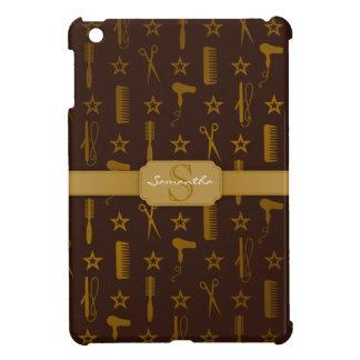 Chic Gold & Coco Brown Custom iPad Mini Case