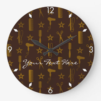 Chic Gold & Coco Brown Custom Wall Clock