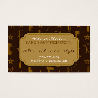 Chic Gold & Coco Hair & Beauty Coupon Discount Business Card