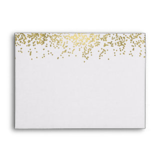 Chic Gold Confetti Envelope