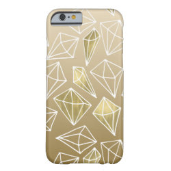 Chic Gold Diamonds Barely There iPhone 6 Case