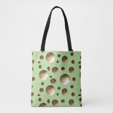 Beach Themed Chic Gold Dots bling bag for beach or shopping