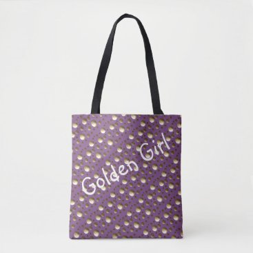 Beach Themed Chic Gold Dots Lilac bag for beach or shopping