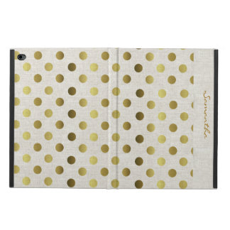 Chic Gold Dots Linen Look iPad Air 2 Case Powis iPad Air 2 Case