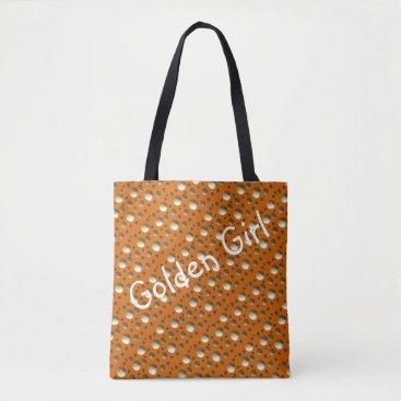 Beach Themed Chic Gold Dots Orange bag for beach or shopping