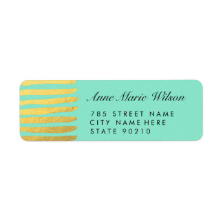 Chic Gold Effect Lines Return Address Labels