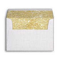 Chic Gold Faux Glittered Trim - Envelope