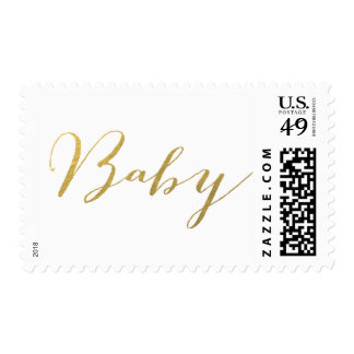 CHIC GOLD FOIL BABY POSTAGE