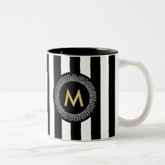 Chic Gold Foil Effect Brushstrokes Coffee Mug