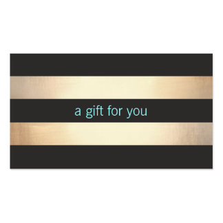 Chic Gold Foil Look Simple Holiday Gift Card Double-Sided Standard Business Cards (Pack Of 100)