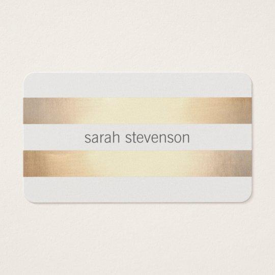 Chic gold foil look striped modern minimalist business card zazzle chic gold foil look striped modern minimalist business card reheart Gallery