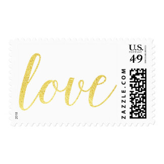 Chic Gold Foil LOVE stamp | Elegant gold foil love