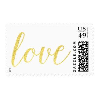 Chic Gold Foil LOVE stamp | Elegant gold foil love