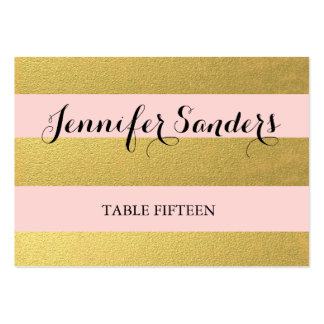 CHIC GOLD FOIL | PINK WEDDING PLACE CARDS BUSINESS CARD