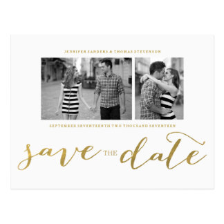 CHIC GOLD FOIL PRINT | SAVE THE DATE POSTCARD