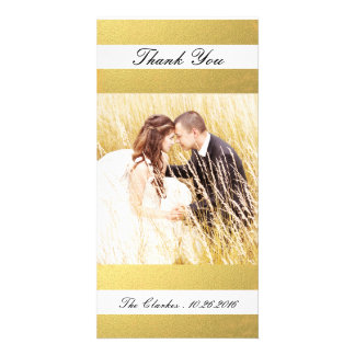 CHIC GOLD FOIL PRINT | WEDDING THANK YOU PHOTO PHOTO CARD