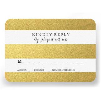 CHIC GOLD FOIL RSVP CARDS