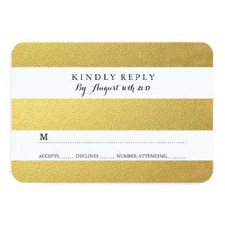 CHIC GOLD FOIL RSVP CARDS ANNOUNCEMENT