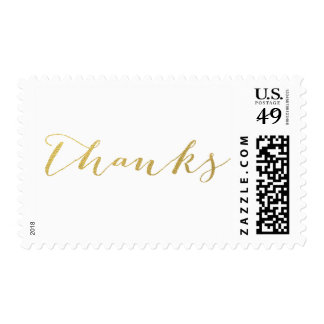 CHIC GOLD FOIL THANKS POSTAGE