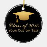 Chic Gold Foil Trendy Graduation Class of 2016 Ceramic Ornament