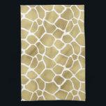 "Chic Gold Giraffe Print Hand Towel<br><div class=""desc"">Chic gold giraffe print ombre</div>"