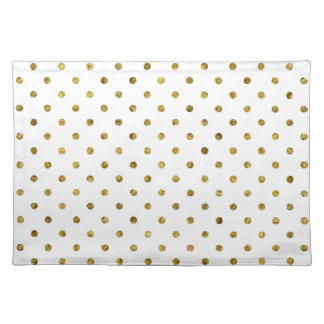 Chic Gold Glam Dots Cloth Placemat