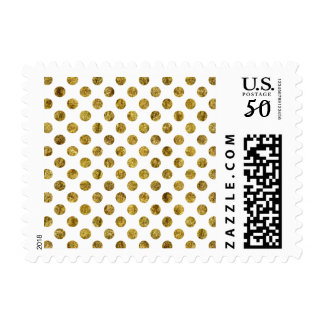 Chic Gold Glam Dots Postage
